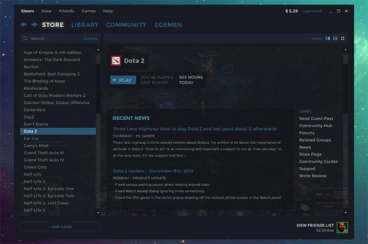 Steam PC App ui design