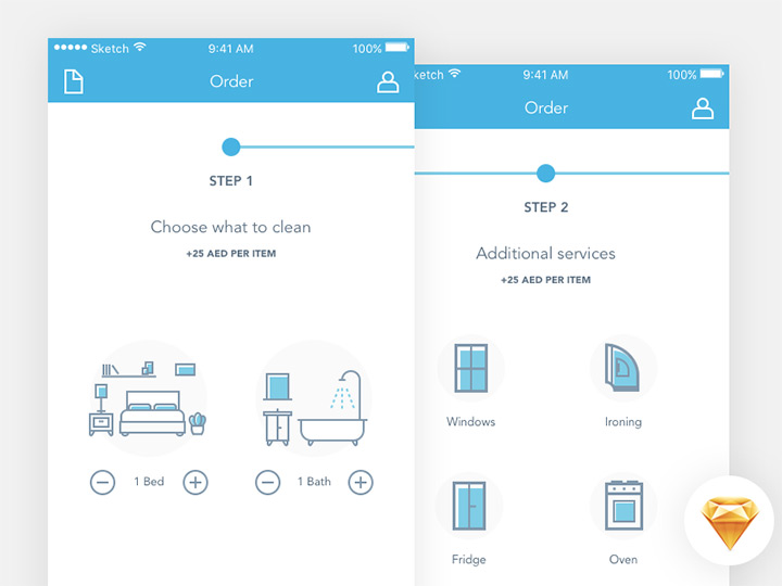 sketch order process ui