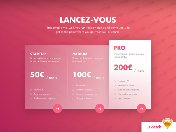 pink sketch pricing table freebie