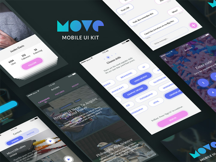freebie sketch move ui kit