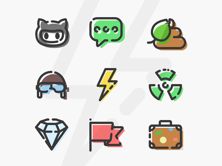 crazy iconset colorful freebie