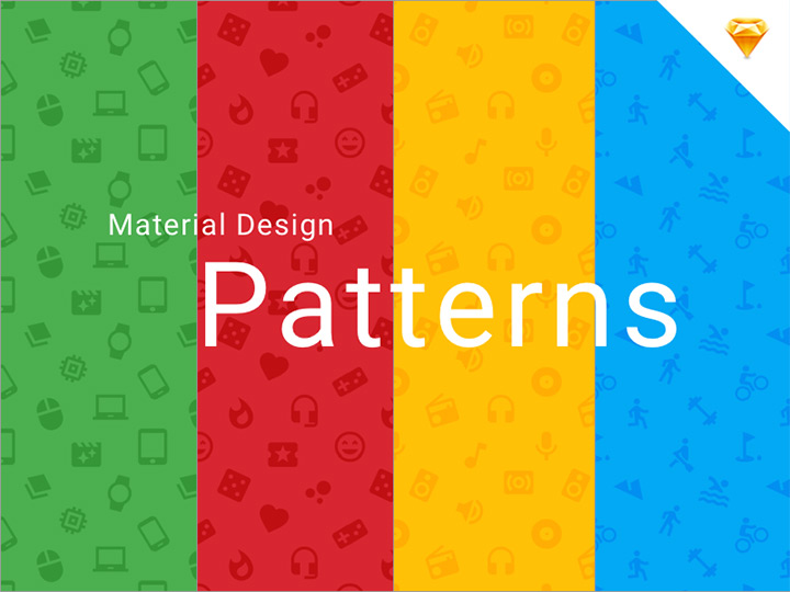 material icon patterns freebie set