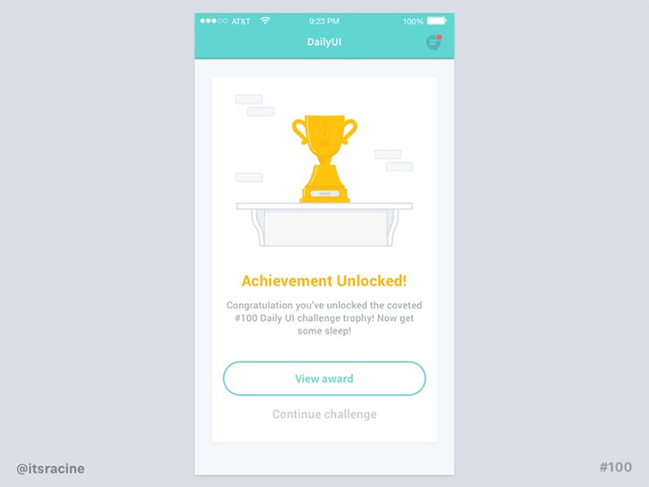 congratulations card ui freebie
