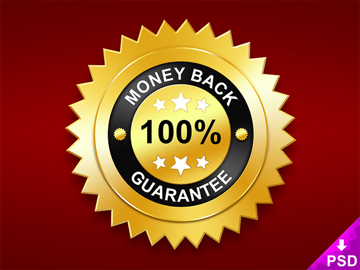 money back guarantee badge freebie psd