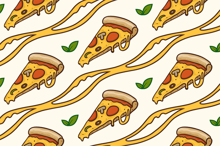 pizza vector seamless pattern freebie