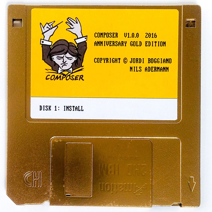 composer gold edition floppy disk front view