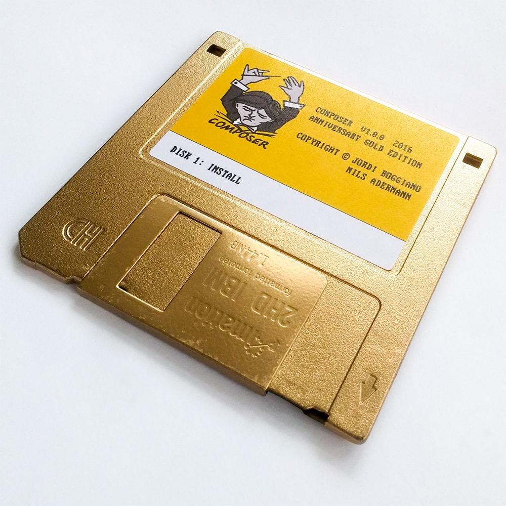 composer dependency manager golden floppy disk collectors item