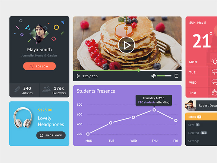 playful ui kit freebie