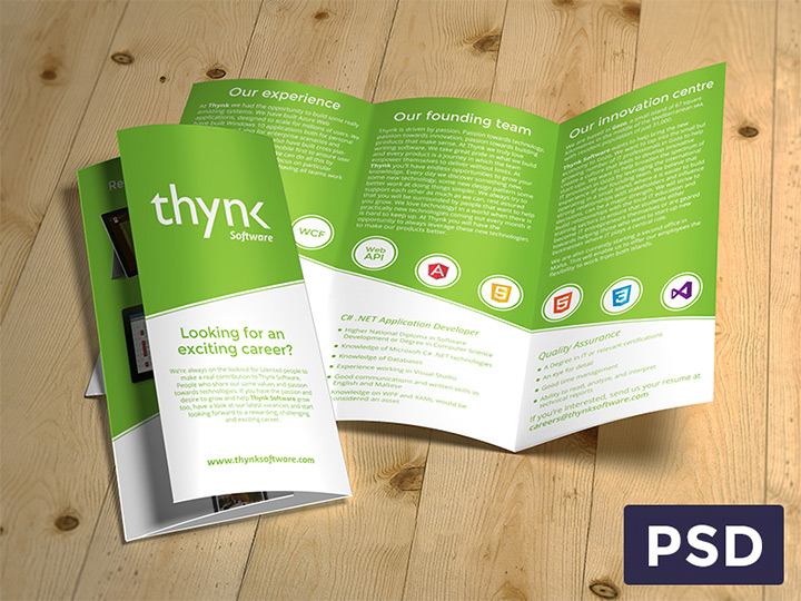 freebie brochure print template psd