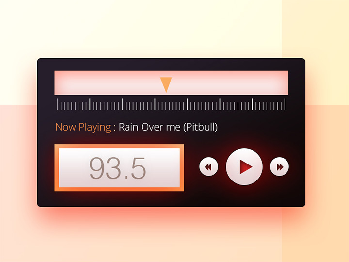 custom radio dials psd freebie