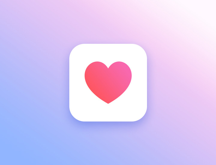 love heart vector ios icon