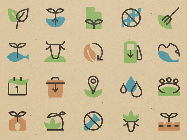 sustainable food icons pack