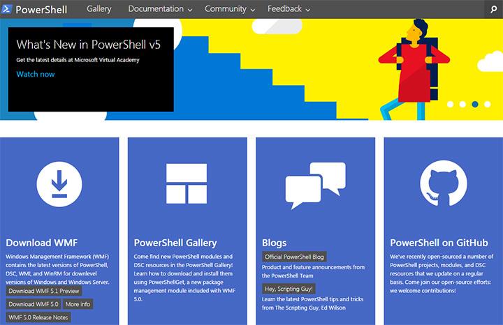 ms powershell homepage