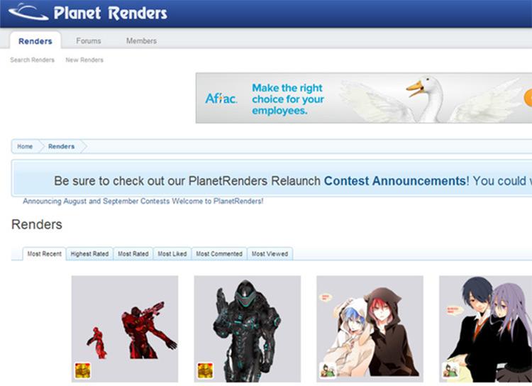 planetrenders homepage website freebie graphics png artwork