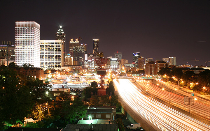 atlanta georgia city lights nighttime wallpaper