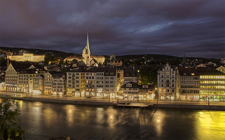 zurich switzerland at night wallpaper