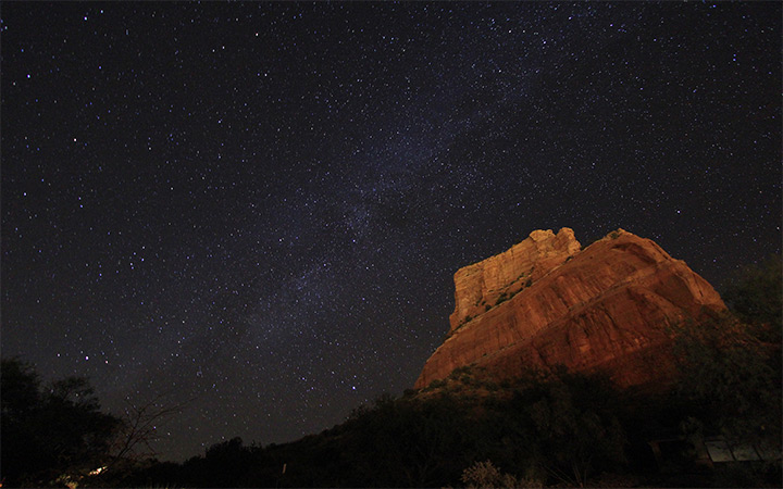 sedona arizona nighttime stars sky