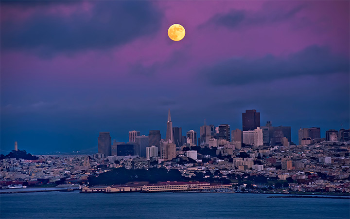 california san francisco city fullmoon wallpaper