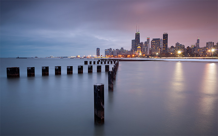 city chicago cloudy overcast wallpaper
