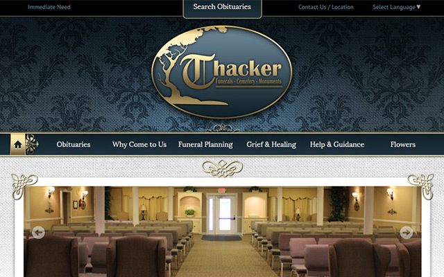 100 best funeral home website designs - Funeral home website design ...