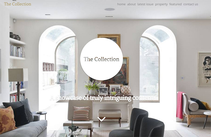 the collection homepage