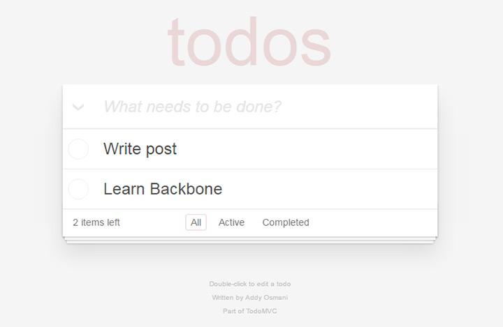 backbone todo list webapp