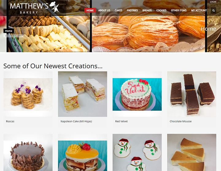 matthews bakery homepage