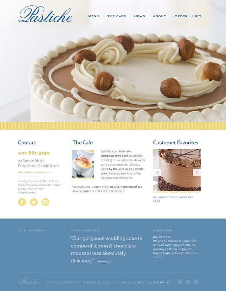 pastiche fine desserts bakery
