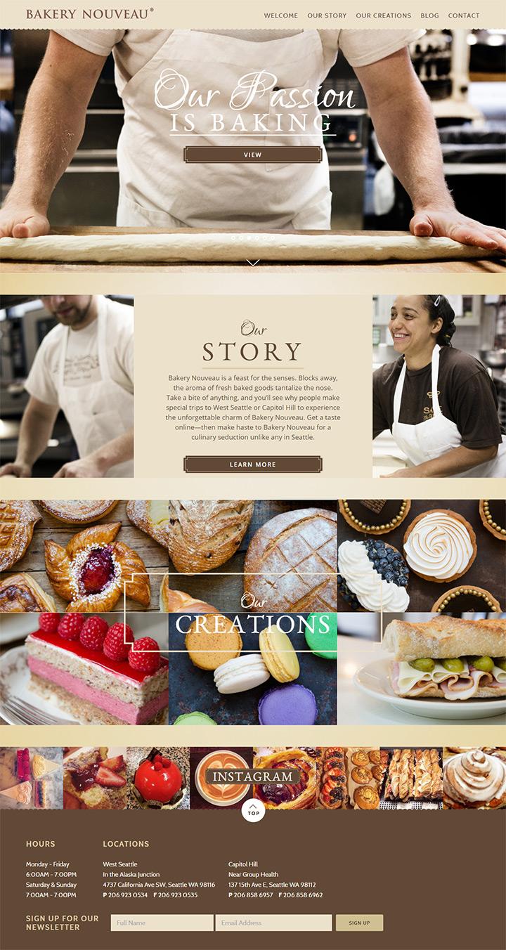 bakery nouveau homepage