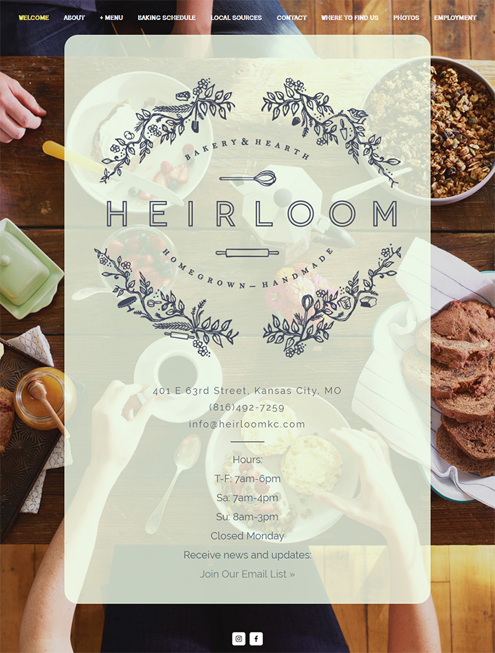 heirloom bakery