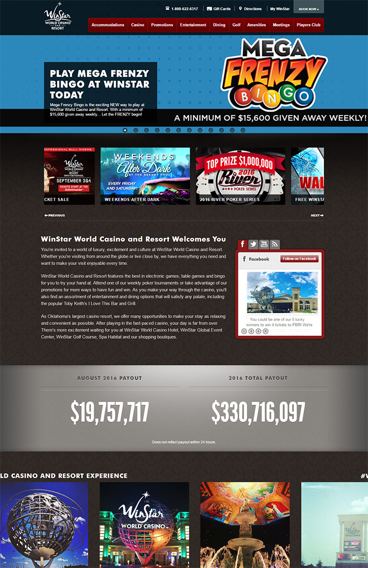 winstar casino homepage
