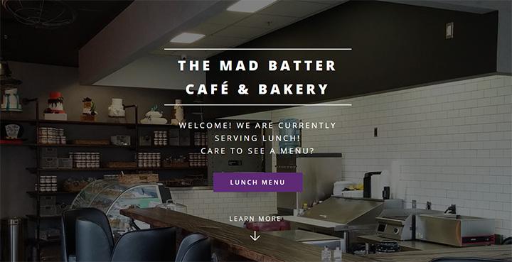 Mad Batter Cafe Website