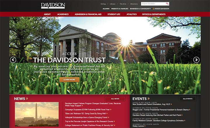 davidson college site