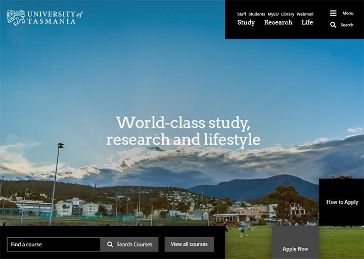 tasmania university website