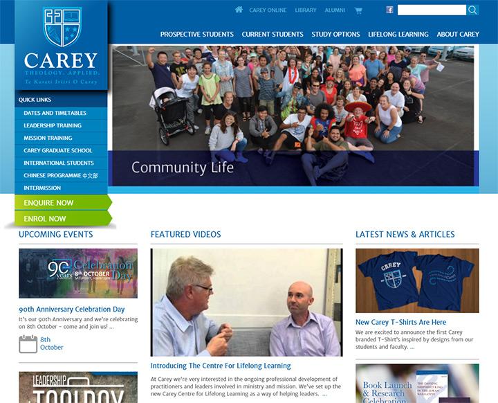 carey baptist college site