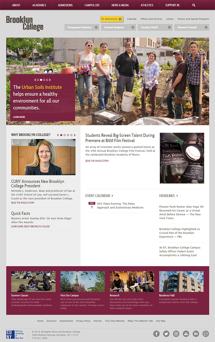 brooklyn college website