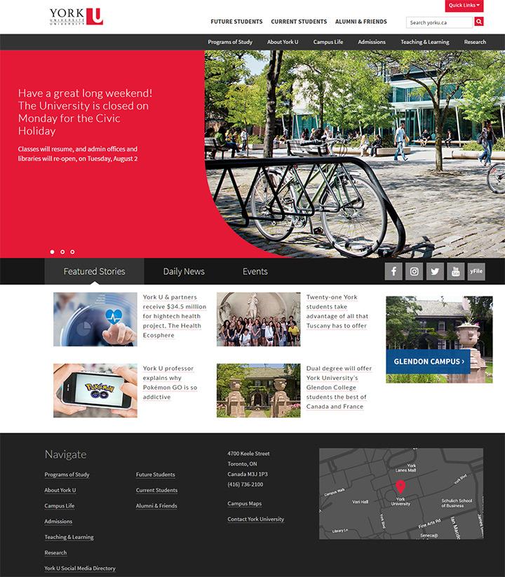 york university website