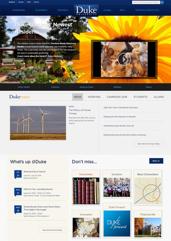 duke university website