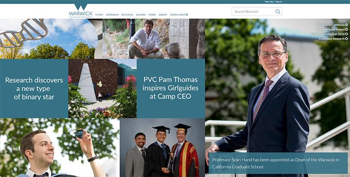 warwick uni website