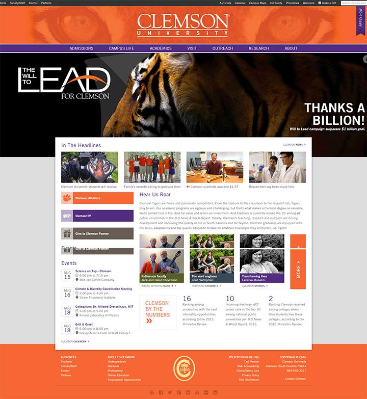 clemson uni website