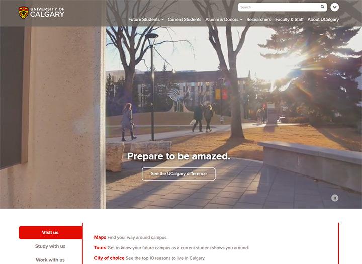 university calgary website