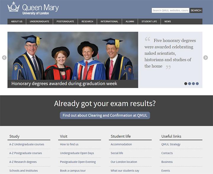 queen mary uni website