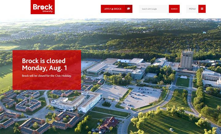 brock uni website