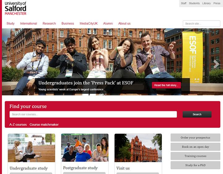 salford manchester website