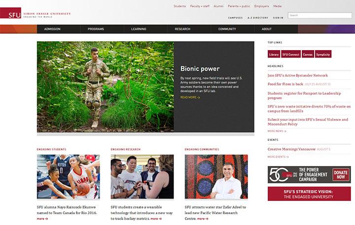 simon fraser university website