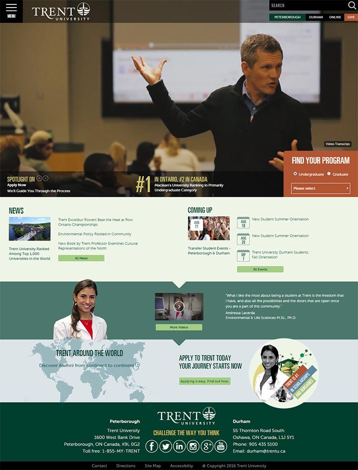 trent uni website