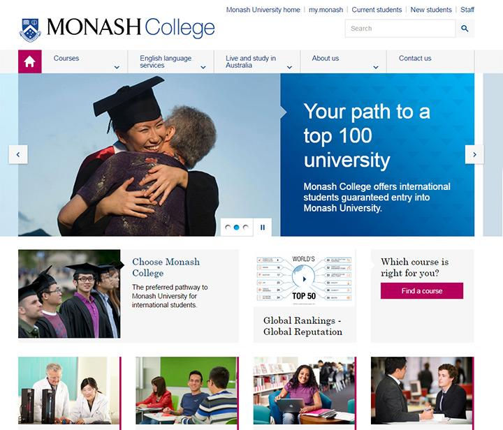 monash college website