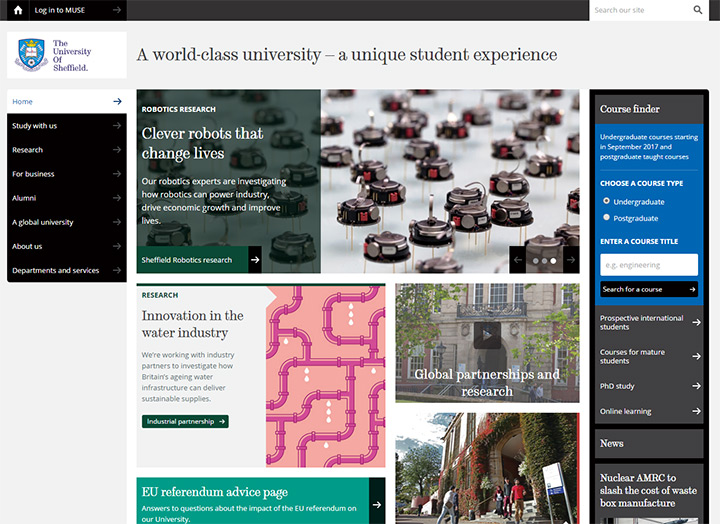 sheffield university site