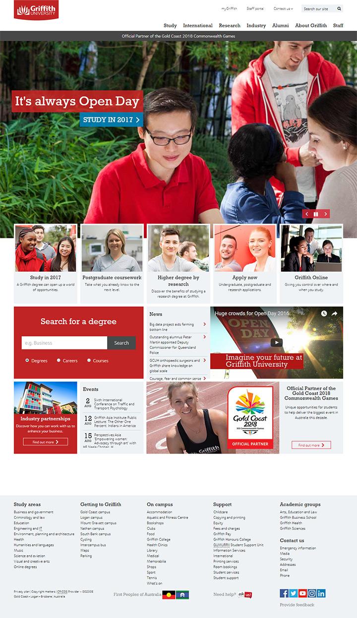 griffith uni website