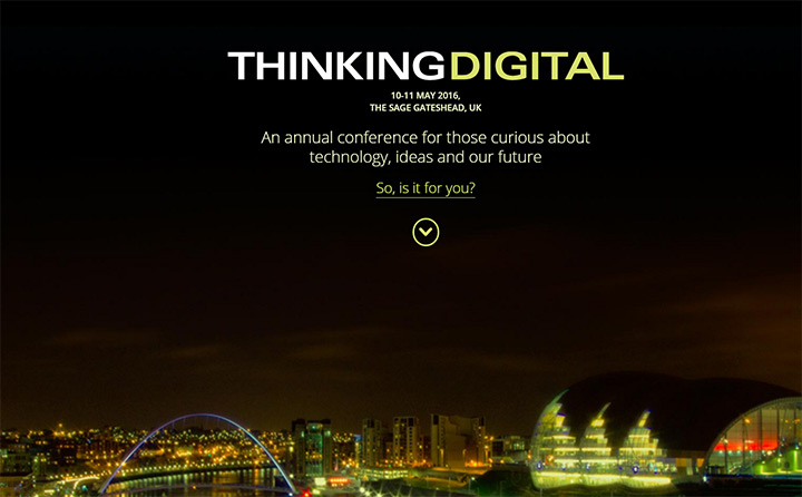thinking digital conference website